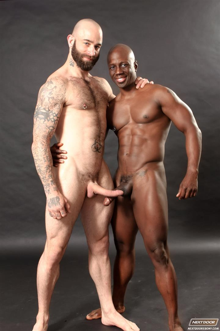 Next-Door-Ebony-Sam-Swift-and-Jay-Black-Interracial-White-Guy-Fucking-A-Black-Guy-Amateur-Gay-Porn-10 Hung Amateur Black Guy Takes A Big White Cock Up His Tight Ass
