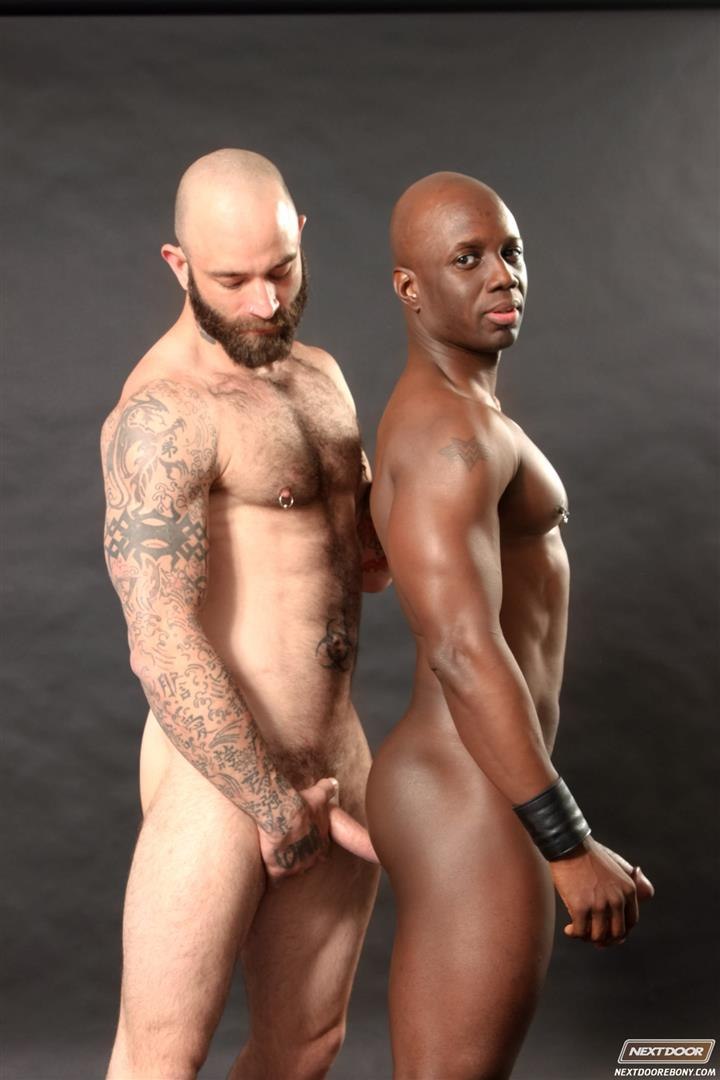 Next-Door-Ebony-Sam-Swift-and-Jay-Black-Interracial-White-Guy-Fucking-A-Black-Guy-Amateur-Gay-Porn-14 Hung Amateur Black Guy Takes A Big White Cock Up His Tight Ass
