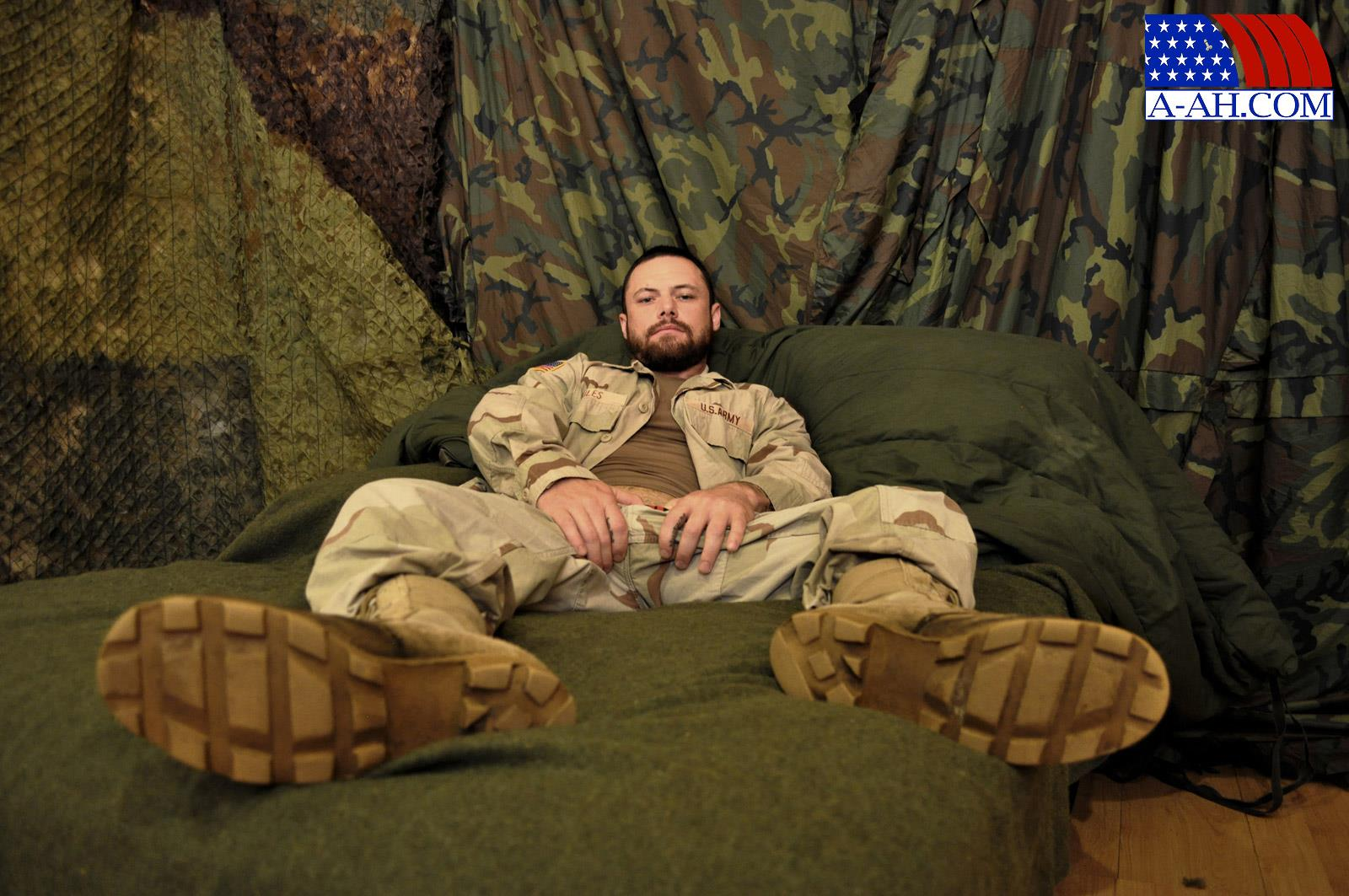 All-American-Heroes-Sergeant-Miles-Army-Guy-Jerking-Off-Big-Cock-And-Fingering-Ass-Amateur-Gay-Porn-01 Happy Veterans Day: Straight US Army Sergeant Jerks His Thick Cock