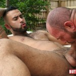 Butch-Dixon-Rikk-York-and-Matt-Stevens-Hairy-Daddy-and-Younger-Guy-Trade-Blow-Jobs-Amateur-Gay-Porn-17-150x150 Hairy Beefy Muscle Daddy Fucking His Younger Buddy Outside