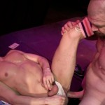 Raw Fuck Club David Lambert and Rocco Steele Public Bareback Sex Big Uncut Cock Amateur Gay Porn 1 150x150 Amateur Male Stripper Gets Barebacked On The Stage