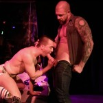 Raw Fuck Club David Lambert and Rocco Steele Public Bareback Sex Big Uncut Cock Amateur Gay Porn 6 150x150 Amateur Male Stripper Gets Barebacked On The Stage
