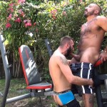 Cum Pig Men Alessio Romero and Ethan Palmer Hairy Muscle Latino Daddy Cocksucking Amateur Gay Porn 42 150x150 Hairy Latino Muscle Daddy Gets A Load Sucked Out And Eaten