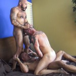 Raw Fuck Club Alessio Romero and Jon Galt and Vic Rocco Hairy Muscle Daddy Bareback Amateur Gay Porn 4 150x150 Hairy Muscle Daddy Threeway Double Bareback Penetration