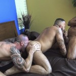 Raw Fuck Club Alessio Romero and Jon Galt and Vic Rocco Hairy Muscle Daddy Bareback Amateur Gay Porn 7 150x150 Hairy Muscle Daddy Threeway Double Bareback Penetration