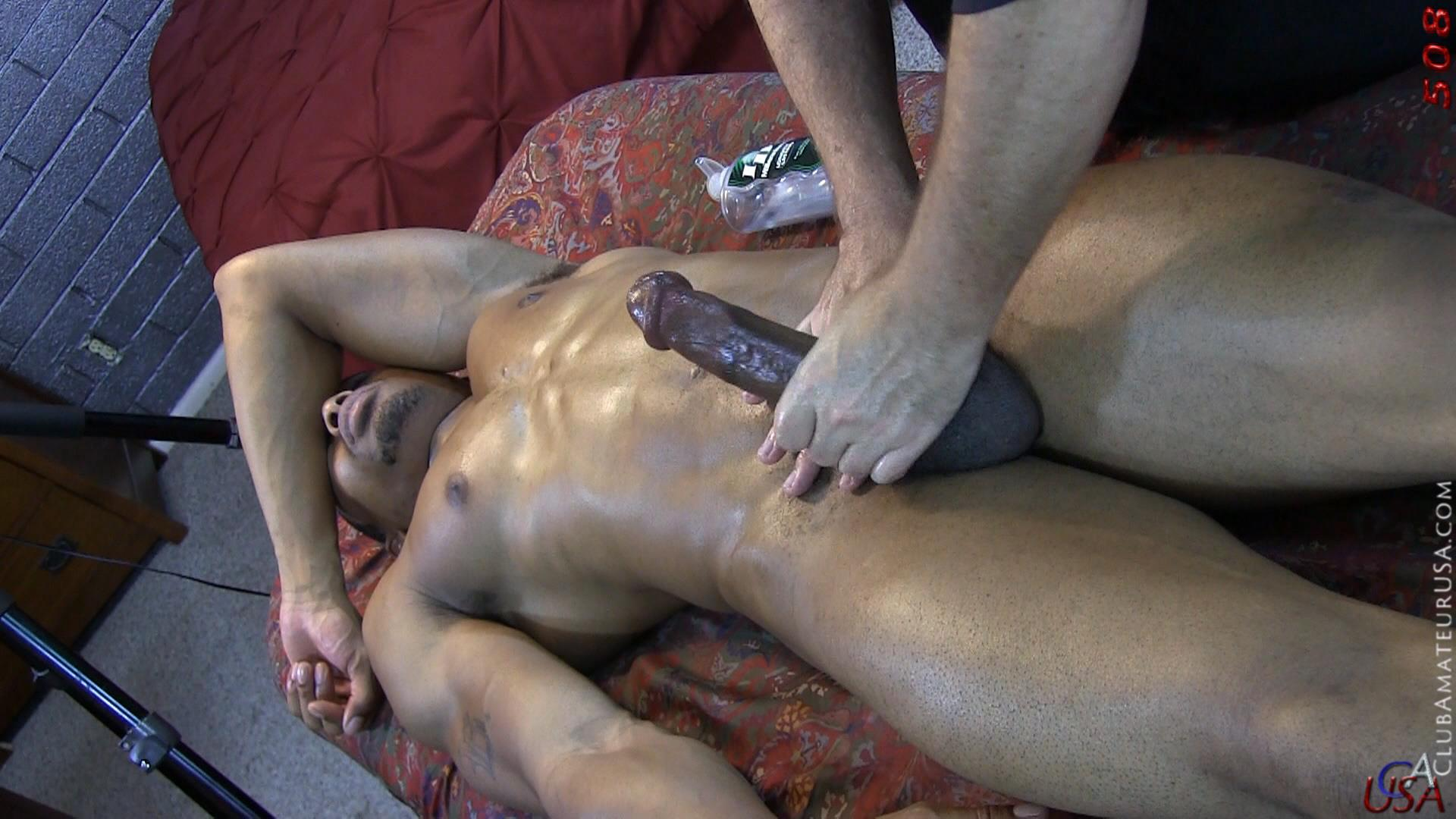 Club-Amateur-USA-Gracen-Straight-Big-Black-Cock-Getting-Sucked-With-Cum-Amateur-Gay-Porn-48 Straight Ghetto Thug Gets A Massage With A Happy Ending From A Guy