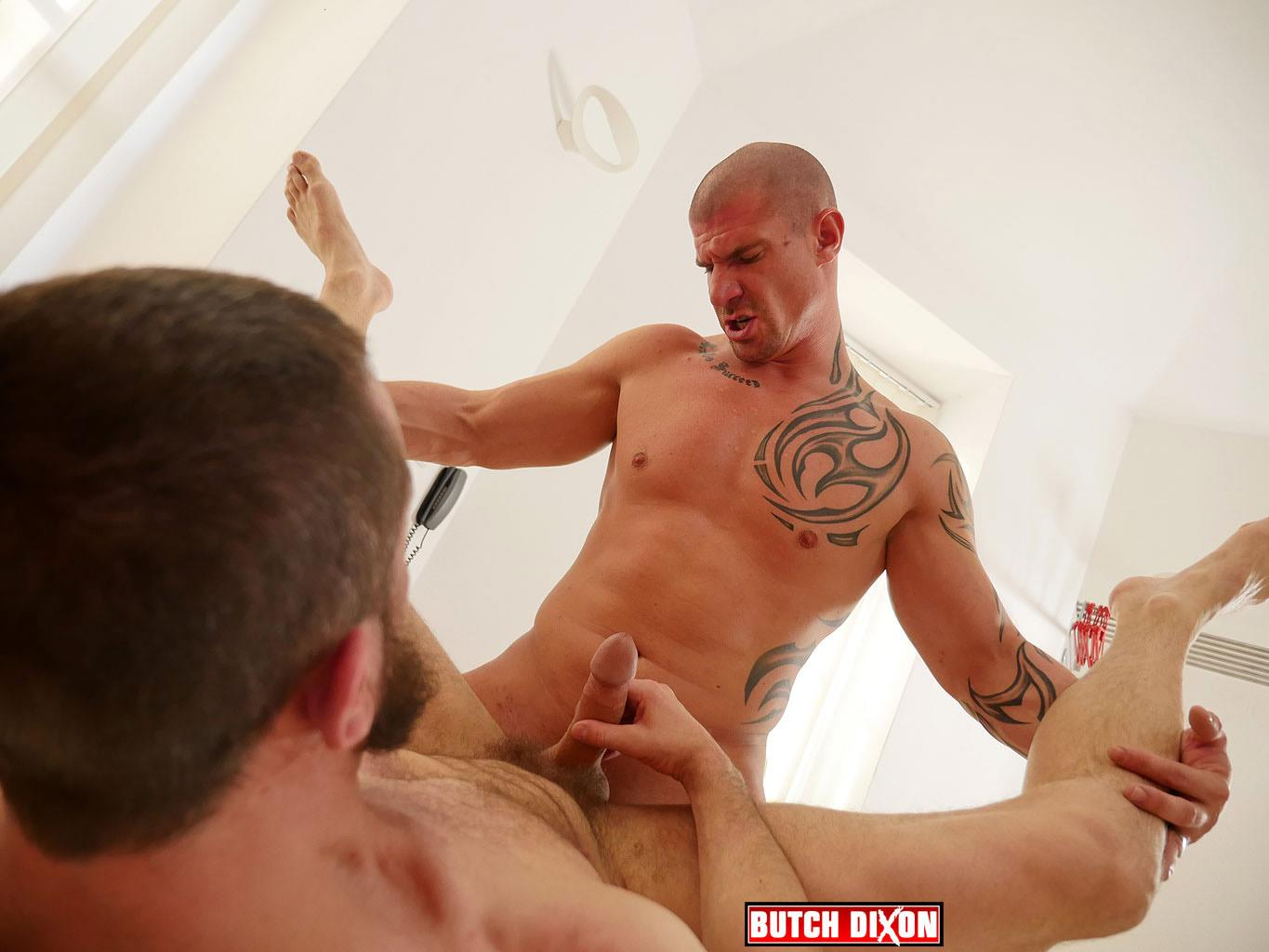 Butch Dixon Erik Lenn and Mike Bourne Masculine Guys Fucking Bareback Amateur Gay Porn 18 Beefy Masculine Guys Fucking Bareback With A Big Uncut Cock