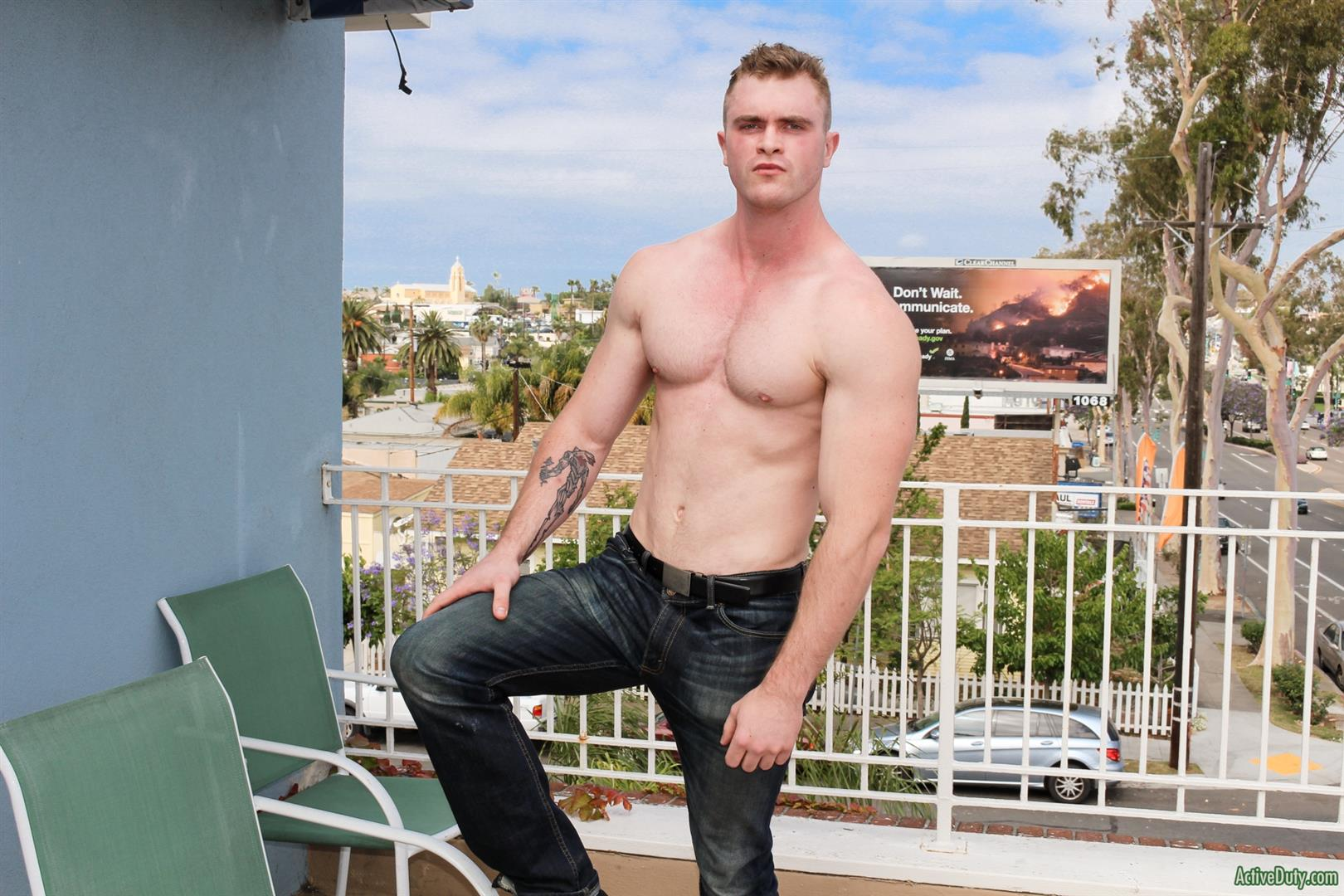 Active Duty Scott Ambrose Muscle Naked Marine Jerking Off Amateur Gay Porn 06 Hairy Muscular American Marine Jerks His Thick Cock