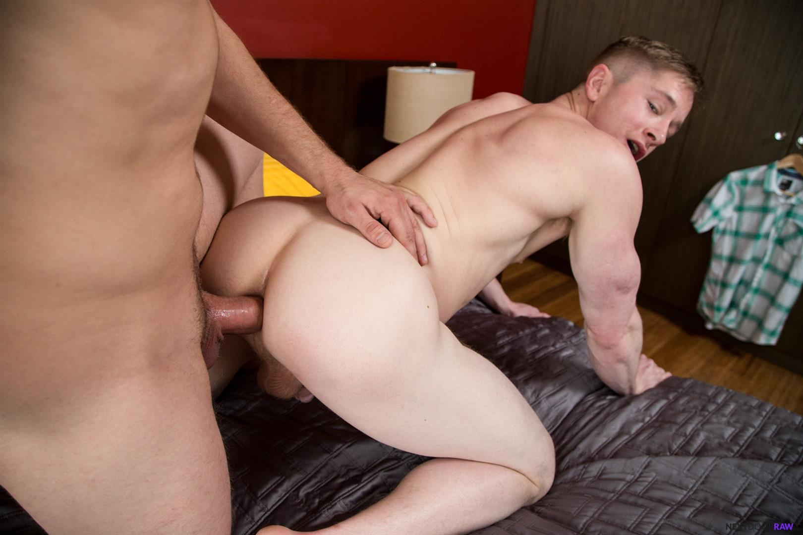 Next-Door-Raw-Bridger-Watts-and-Chris-Blades-muscle-hunks-bareback-sex-12 Muscle Hunk Getting Fucked Bareback By His Brothers Best Friend