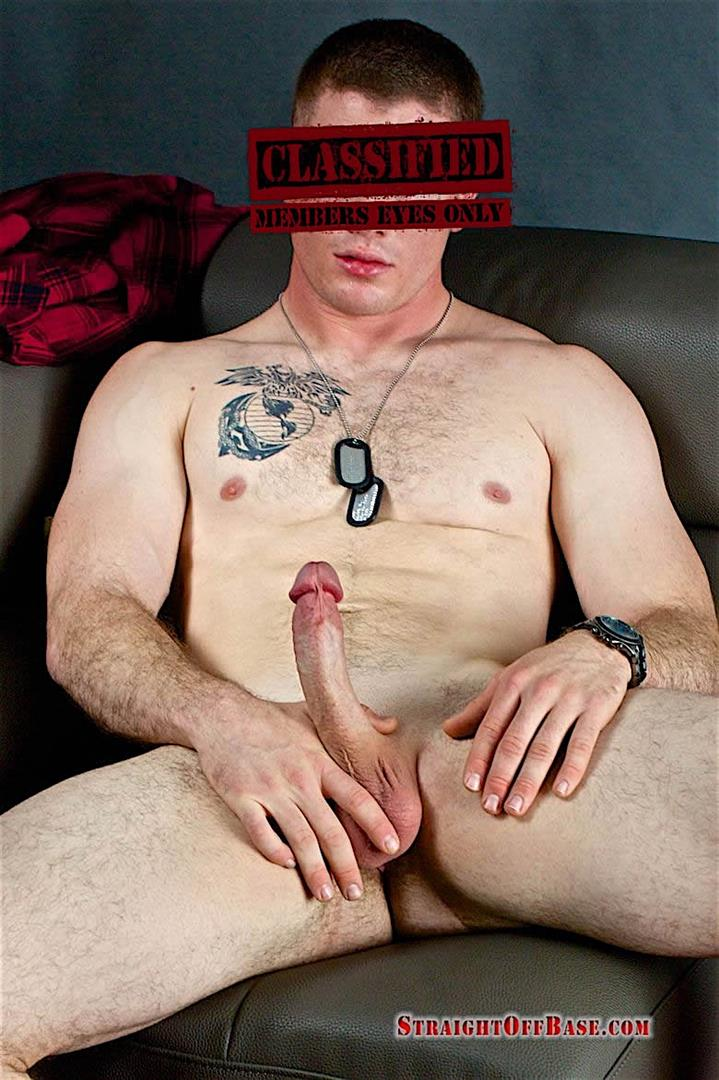 Straight Off Base Corporal Know Naked US Marine Jerking Off 04 Ripped Straight Marine Jerking His 8 Cock