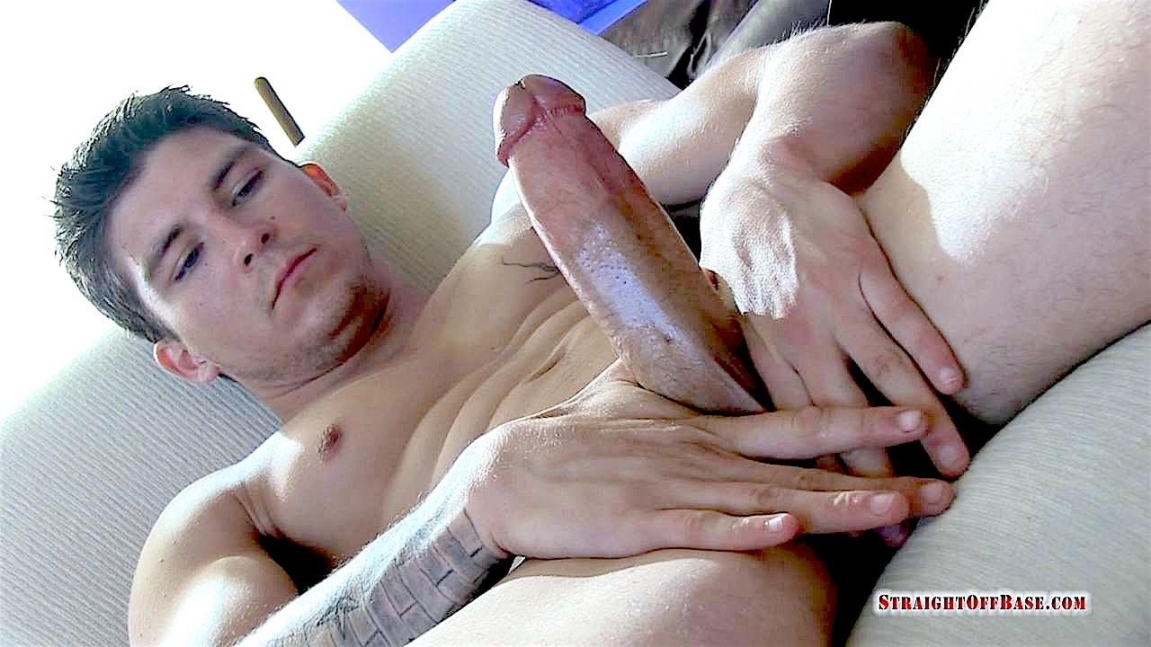 Straight-Off-Base-Tyson-Navy-Officer-Big-Dick-Jerk-Off-20 Muscular Navy Petty Officer Strokes his Big Fat Cock
