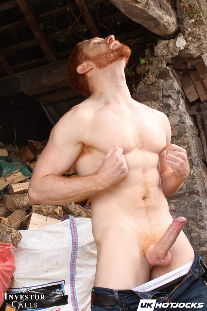 UK-Hot-Jocks-Leander-and-Leon-Teal-Naked-Ginger-With-Big-Cock-05 Tall Hung Uncut Leander Fucking Leon Teal's Muscular Ass