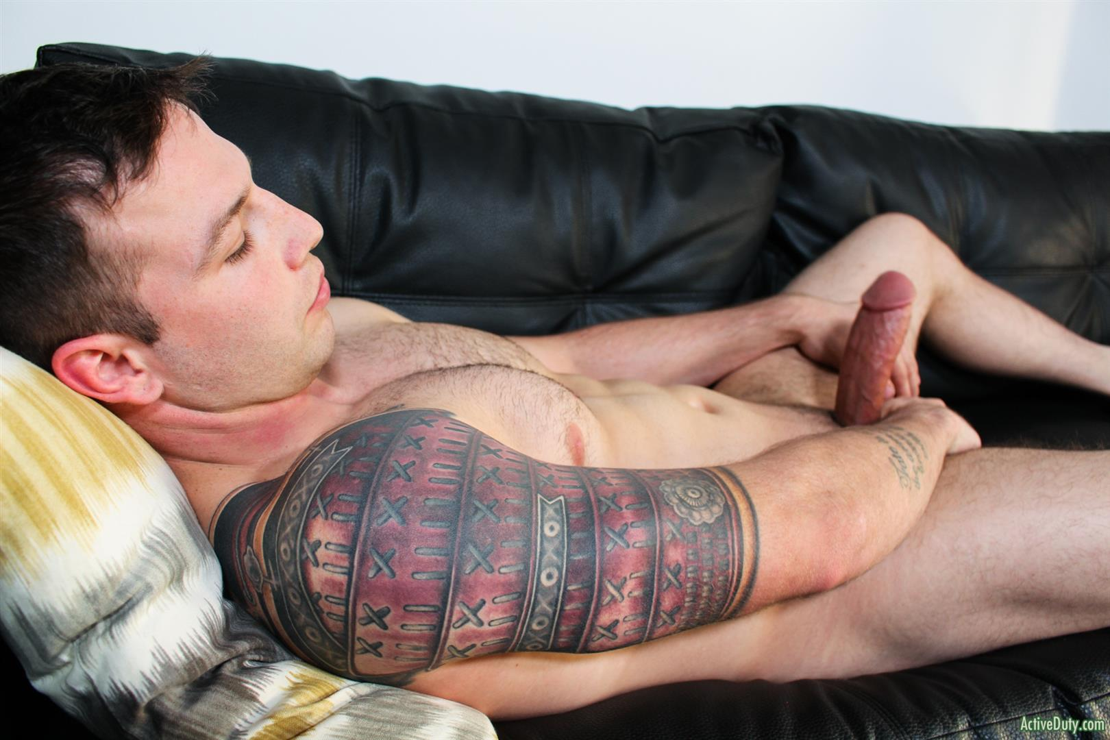 Active-Duty-Tim-Tank-Muscular-Marine-With-A-Thick-Cock-Jerk-Off-14 Muscular Straight Marine Jerking Off His Very Thick Dick