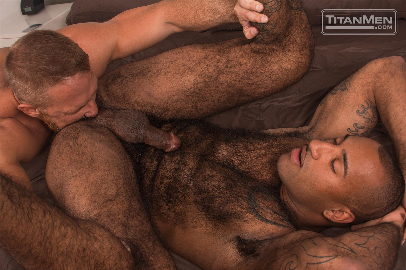 Titan-Men-Dirk-Caber-and-Daymin-Voss-Hairy-Muscle-Daddy-and-Big-Black-Dick-Fucking-47 Hairy Muscle Daddy Dirk Caber Flip Fucking With Hairy Black Muscle Hunk Daymin Voss
