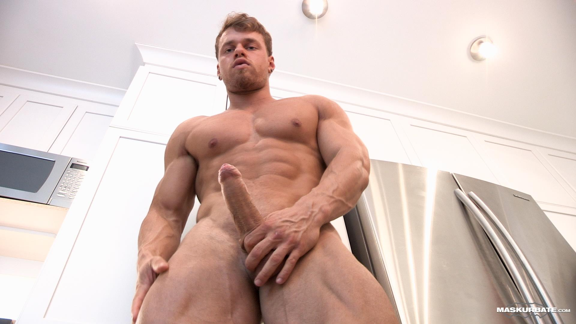 Maskurbate-Muscular-Guy-With-A-Big-Uncut-Cock-Jerking-Off-09 Jerking Off My Big Uncut Cock Into My Friends Wine Glass On New Years Eve