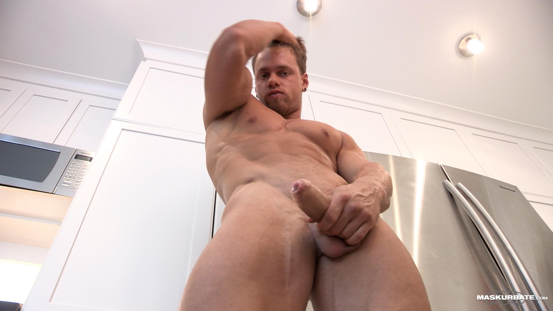 Maskurbate-Muscular-Guy-With-A-Big-Uncut-Cock-Jerking-Off-10 Jerking Off My Big Uncut Cock Into My Friends Wine Glass On New Years Eve